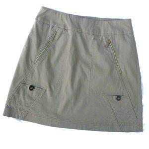 Jamie Sadock Skort Golf Athletic Stretch Tan Zip 8